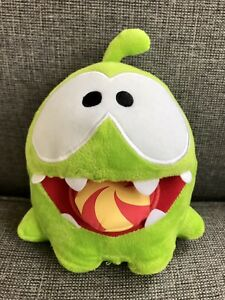 """Om Nom 'Cut The Rope' Plush 6"""" Toy With Vibrating Noisy Cookie And Sounds 2012"""