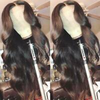 Long Wavy Lace Front Wig Top Grade Peruvian Human Hair Full Wig Pre Plucked Xhtt