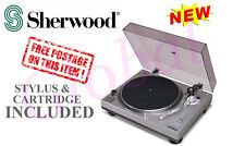 SHERWOOD 33 / 45 RPM-MANUAL PHONOGRAPH TURNTABLE RECORD PLAYER PM9805 - NEW