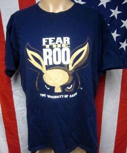 UNIVERSITY AKRON Zips tee XL classic T-shirt Ohio kangaroo mascot Fear the Roo
