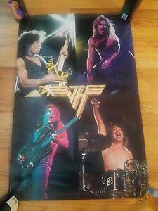 Vintage 1980 Van Halen Concert Poster 24x36 rolled, no folds