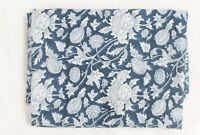 """Hand Block100%  cotton Fabric Running Voile 44"""" wid Natural Sewing Craft 5 yard"""