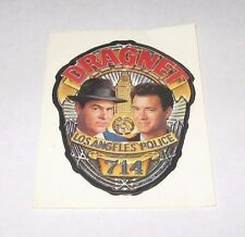 RARE OFFICIAL 1987 DRAGNET MOVIE PROMO STICKER TOM HANKS DAN AYKROYD LAPD BADGE