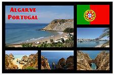 ALGARVE, PORTUGAL - SOUVENIR NOVELTY FRIDGE MAGNET - FLAGS / SIGHTS / GIFTS