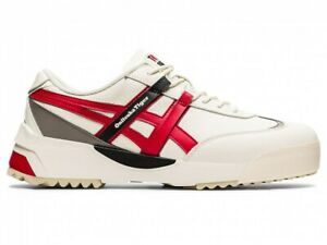 Asics Onitsuka Tiger DELEGATION EX 1183A559 CREAM/CLASSIC RED With Shoe Bag