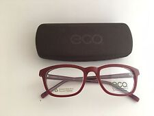 New Authentic Eco Eyeglasses Frame Red Mod 3000 earth conscious  51.5X19 138mm