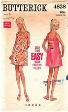 Vintage 60s Mod DRESS Sewing Pattern Butterick 4838 RETRO Sundress BEACH 8/31.5