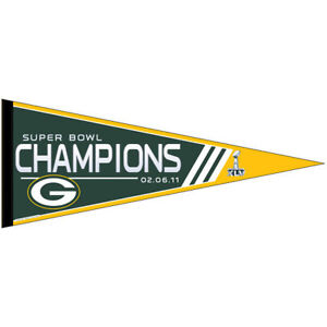 Packers Super Bowl Champions Pennant Flag