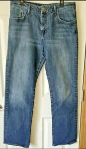 Mavi Men's Jeans / 36X34 Dark Wash / MATT / Relaxed Fit Straight Leg / 5 Pocket