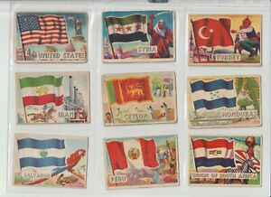Flags of the World A&BC Gum Full set of 80 cards  SMALL size Issued 1963
