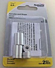 "National Hardware Ferrules & Stops 5/32"" Aluminum N283-895"