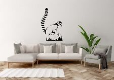 lemur On Rock Inspired Design Zoo Animal Home Decor Wall Art Decal Vinyl Sticker