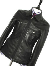 GORGEOUS MENS VERSACE JEANS COUTURE 100% LEATHER BOMBER BIKER JACKET COAT 42R