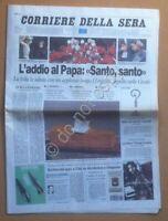 Quotidiano - Corriere della Sera 9 Aprile 2005 - Funerali Papa Giovanni Paolo II