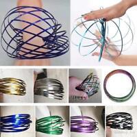3D Magic Flow Rings Arm Slinky Magic Infinity Spring Fidget Toy Gadget Dance Hot