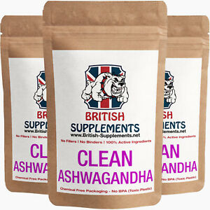 Clean Premium Ashwagandha 8,586mg, 21.4mg of Withanolides per serving 2 capsules