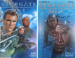 STARGATE SG-1 P.O.W. #2, Stargate Prequel #1C (2004) Avatar Press (Set of 2)