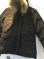 Canada Goose Parka Black With Fur Trim To Hood Size XL But More A Medium