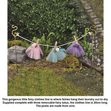 Georgetown Fiddlehead Mini Fairy Garden Washing Clothes Line Accessory Home Gift
