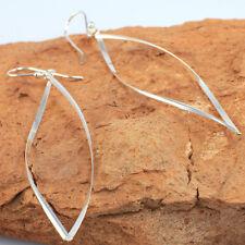 Wholesale Price, Long Twisted Dangling Earrings in 925 Sterling Silver