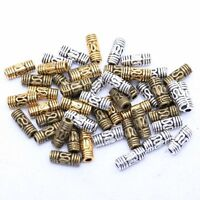 20pcs Antique Metal Tribal Column Tube Spacer Beads Charms Jewelry Findings 8mm