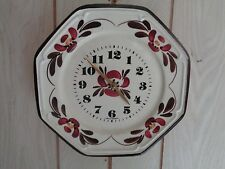 Junghans Made In Germany W 738 Hanging Kitchen Clock With Floral Design