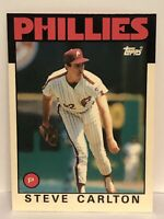 1986 Topps Tiffany Steve Carlton baseball card Philadelphia Phillies #120 HOF P