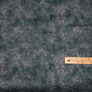 """Charcoal Blue Gray 108"""" Wide Backing Cotton Benartex Fabric 1/2 Yard  #9705WB-98"""