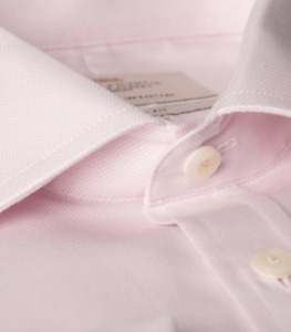 NEW HAWES & CURTIS Men's Pink Extra Slim Fit Shirt.  *Size 17*