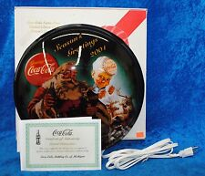 Coca Cola Limited Edition 2001 Season Greetings Lighted Sign #0701 Out Of 1500