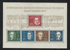 Germany: 1959; Souvenir sheet, Scott 804, mint NH. GE168