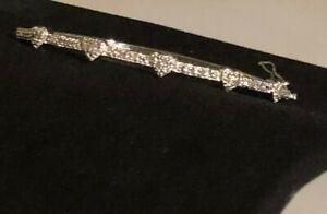 Estate 1/4 carat DIAMOND Hearts Hinged Bangle Sterling!! LOOK!!