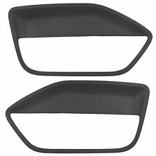Black Front Door Panel Insert Card Cover Kit LH RH For 2005-2009 Ford Mustang