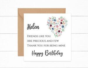 Personalised Birthday Card for Best Friend Special Friend Precious & Few