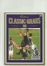 1999 AFL MATTHEW RICHARDSON CADBURY CLASSIC GRABS #20 CARD
