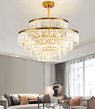 Luxury K9 Crystal Layers Pendant Light Home Light Decor Lamps Ceiling Chandelier
