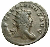 Gallienus Æ Antoninianus (259 AD), Emperor veiled, Milan mint