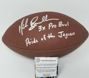 Mark Brunell Jaguars Autographed Signed Football TWO Inscriptions SS