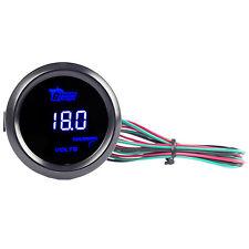 """2"""" 52mm Black Car Auto Digital Blue LED Volt Voltage LED Gauge Kit YY"""