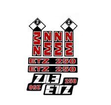 MZ etz 250 sticker set 8 piece set