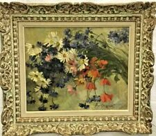 Antique 19th Century ART NOUVEAU Era Still Life Oil Painting Signed