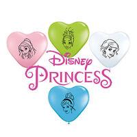 "8 x Disney Princess 6"" (Small) Latex Balloons FACES (Party/Birthday)(Qualatex)"