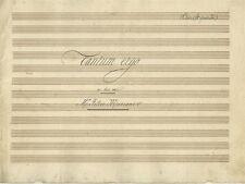 Tantum Ergo Canto a Due Voci del M° Felice Mariani Spartito Manoscritto 1880 ca