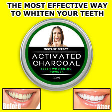 150ml Dientes De Carbono Carbón Activado Quitamanchas polvo más blanca más brillante sonrisa