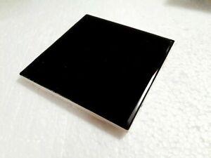 Black 4 in Ceramic Tile Square 4.25 inch Subway 4x4 American Olean 0049 Kohler