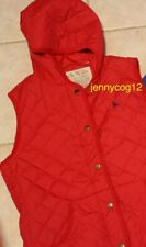 JACK WILLS LADIES PADDED HOODED WINTER WARM GILET BODY WARMER LINED LOGO RED 14