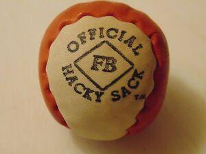 Rare New 1st Gen. Ever Hacky Sack 2-Panel FB Diamond Footbag Haitian Signed!