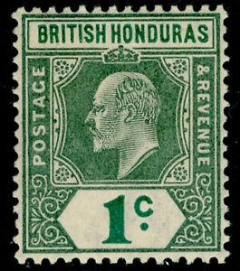 BRITISH HONDURAS SG84, 1c grey-grn & green, NH MINT. Cat £19.