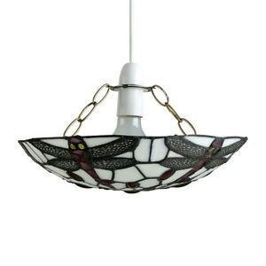 MiniSun Ceiling Light Shade - Retro Stained Glass Tiffany Style Easy Fit Pendant
