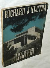 "Good 1946 Richard J. Neutra ""L'Architecture D'Aujourd'hui"" Special Issue +Extras"